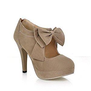 lath pin vintage damen schuhe pumps high heels beige brautschuhe mit schleife stilettosabsatz. Black Bedroom Furniture Sets. Home Design Ideas