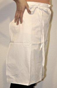 Baumwollköper weiß Vorbinder 60x80 cm